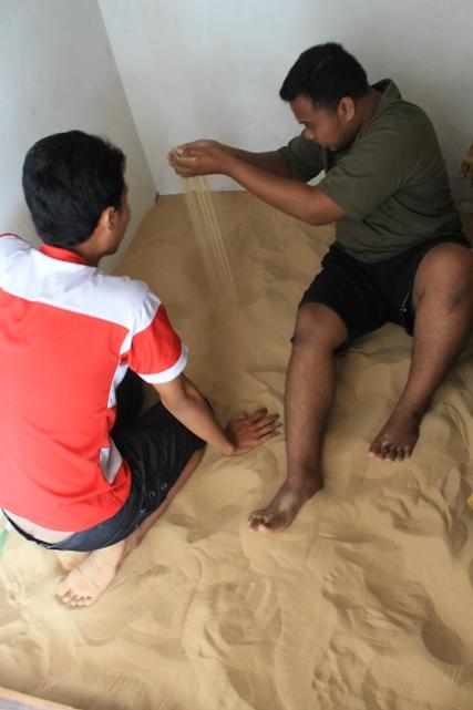 Inilah butiran pasir yang begitu halus