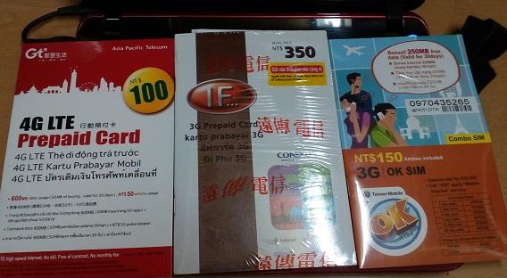 sim card di taiwan
