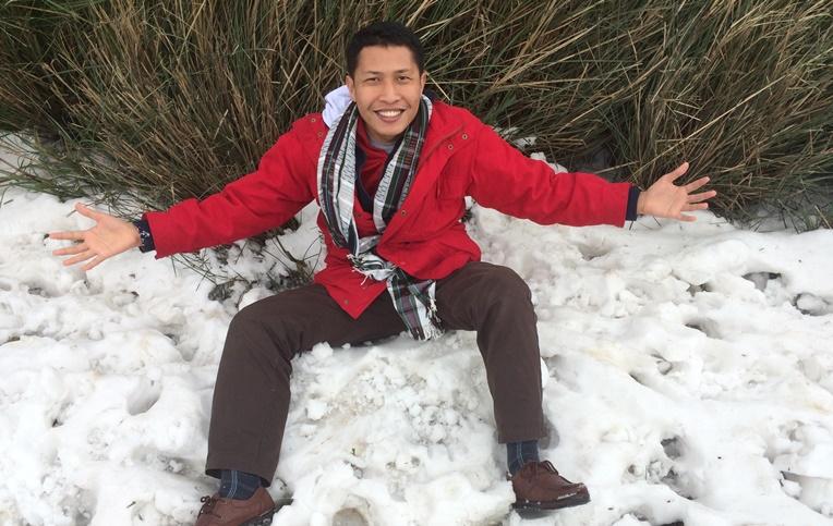 wahyualam.com - salju di Yangmingshan 2